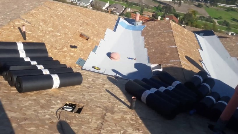 steps to take when installing the rolled roofing
