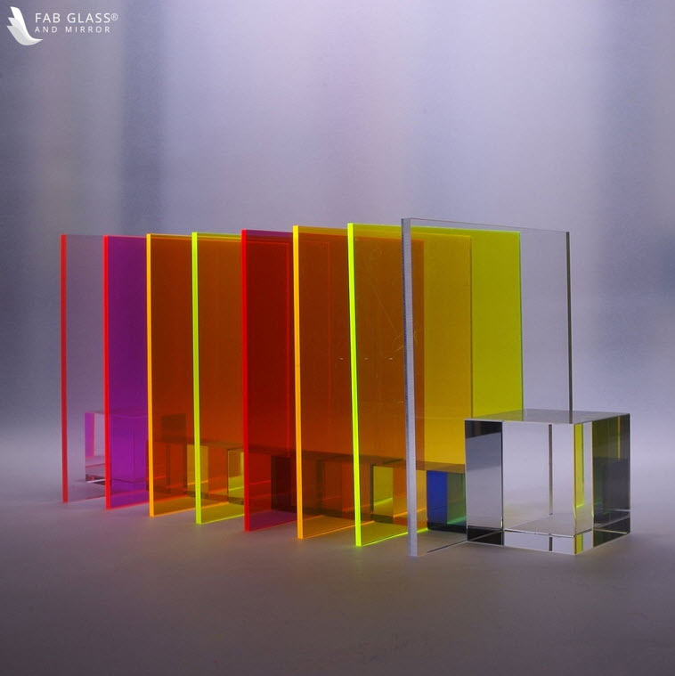 Acrylic sheets of various colors