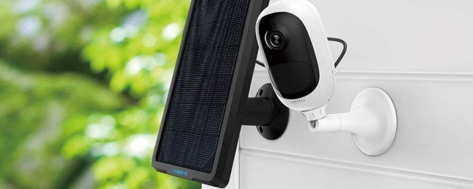 small external camera with wifi and solar panel